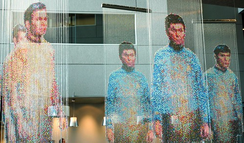Spock, Kirk and McCoy: Beaming-In (In-Between), sculpture by Devorah Sperber, Microsoft, Studio D, Redmond, Washington, USA by Wonderlane