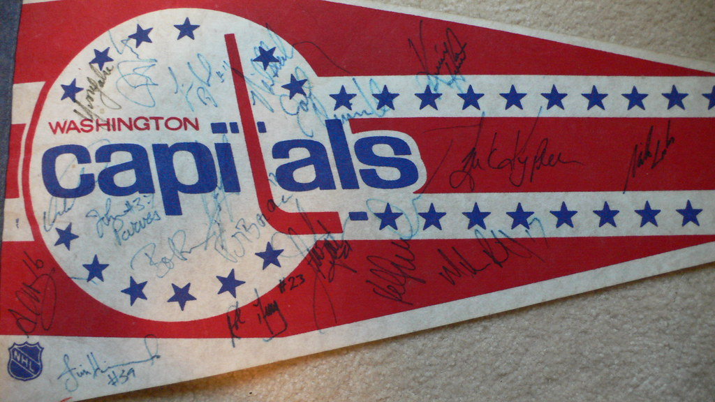 My Old School Capitals Pennant With Autographs