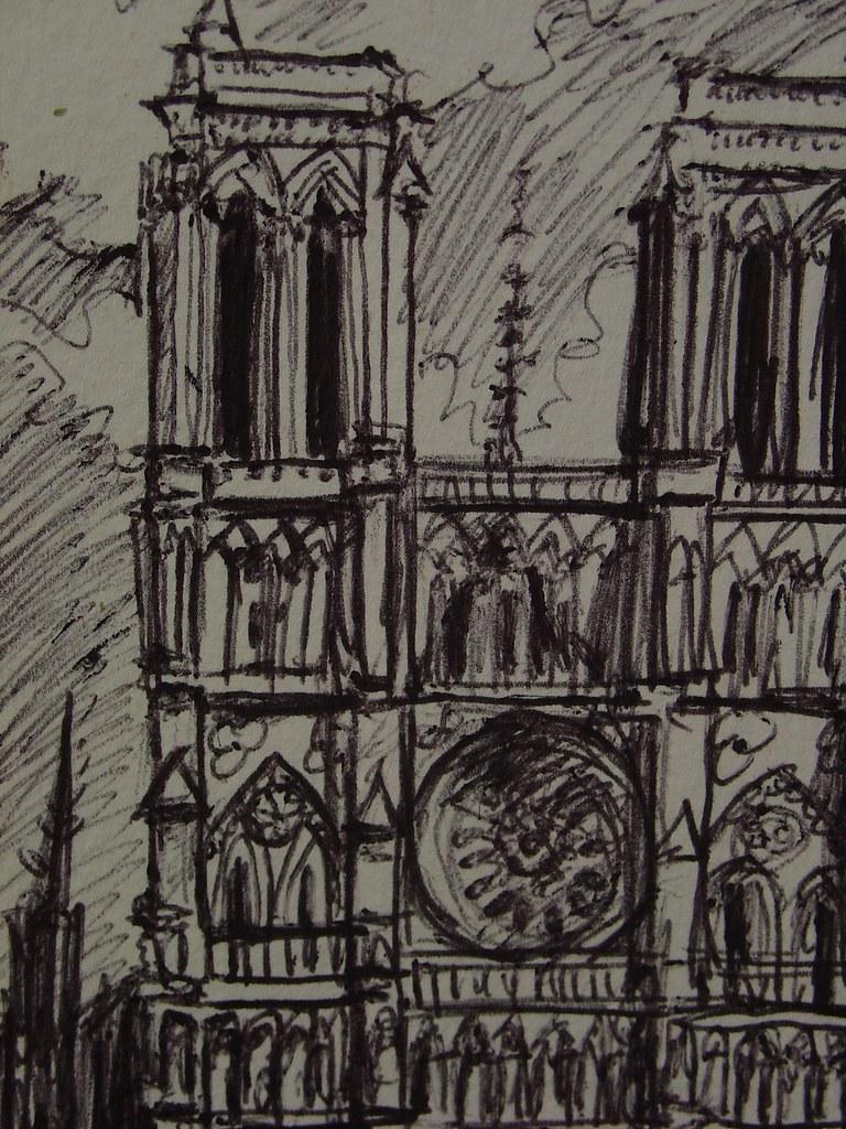 Dibujos De Catedrales. Grabado De Fournier Que Muestra La Fachada De La Catedral De Valladolid ...