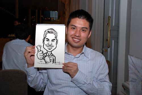 Caricature live sketching for Tetra 60th Anniversary - 6