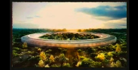 Apple's new headquarters (via Lloyd Alter, Treehugger)