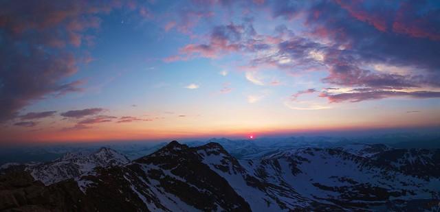 sunset panorama mountain snow mountains cold nature canon landscape eos evans colorado colorful pretty mt peak alpine 7d co 14er epic tamron1750 canon7d