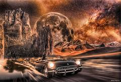 CHEVROLET CORVETTE 1953 (@Britney Beyonce) Tags: automobile auto car worldcar space fantasy chevrolet corvette americancar classiccar photoshop forzahorizon3 pixabay