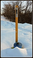 Fire hydrant mostly submerged beneath the snow (Will S.) Tags: mypics ottawa ontario canada snow winter firehydrant
