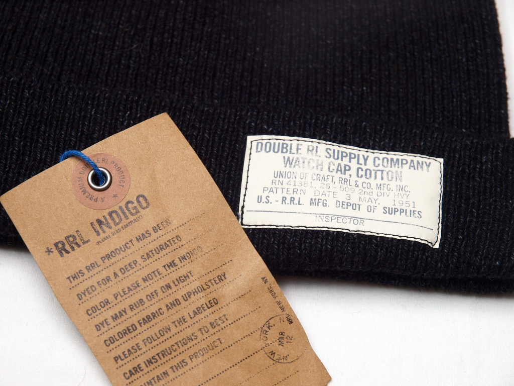 RRL / Indigo Knit Cap
