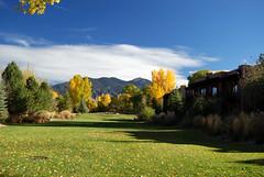 The grounds of El Monte Sagrado in Taos