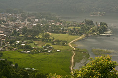 lakeside @ pokhara (pablo_martin) Tags: autumn nepal lake green field lakeside nepalese pokhara nepali