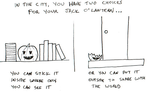 366 Cartoons - 267 - Urban Jack O'Lantern