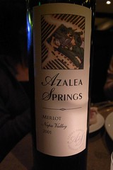 2001 Azalea Springs Napa Valley Merlot
