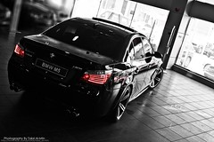 BMW M5 (Talal Al-Mtn) Tags: red white black cars car canon silver photography automobile d gear automotive automatic bmw clutch kuwait manual 450 m6 exhaust q8 hamman mpower kwt bmwm5 canon450d inkuwait  bytalalalmtn m6rims