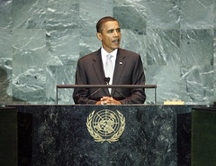 Obama Addresses UN General Assembly; photo: UN