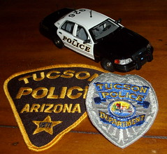 "TPD slicktop with patches (bloo_96 ""Daniel DeSart"") Tags: arizona car model cops tucson police cop policecar law enforcement patch patches dept tpd copcar diecast slicktop deptartment copscar"