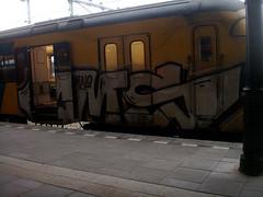 Graffiti in Nijmegen 2009 (kami68k [Cologne]) Tags: train nijmegen graffiti chrome illegal 2009 cms bombing nederlandsespoorwegen