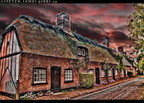 Five cottages sunset