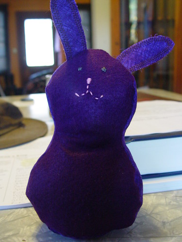 Purple Bunny by dabombdc2000.