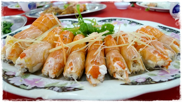 Steamed Prawns with Egg Whites
