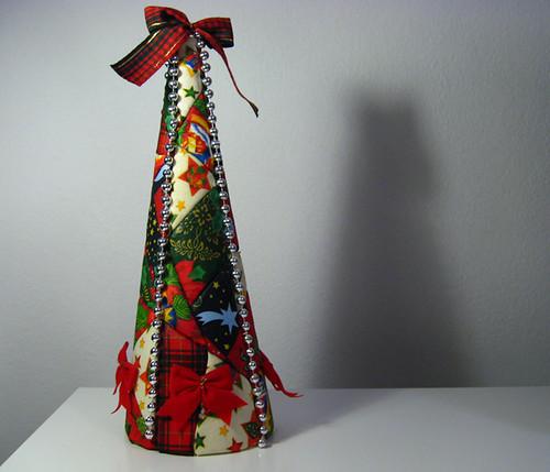 arvore de natal de patchwork, com retalhos 7163