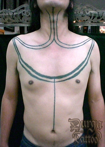 (one of many part of the Mentawai Titi / Mentawai tattoo motive)