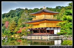 Golden Pavillion (Kyoto, Japan) (Vineeth Aravindakshan) Tags: world autumn reflection heritage japan ji temple golden ancient kyoto shrine top tourist unesco kinkakuji pavillion kinkaku mustsee