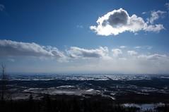 扇ヶ原展望台から十勝平野を一望