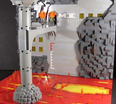 Lava Tower on Muspell (Ludgonious) Tags: cliff tower industry fire lava liu lego atlas meter realm muspell
