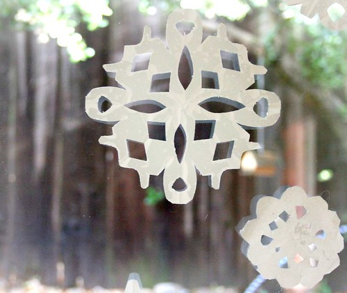 contact paper snowflakes