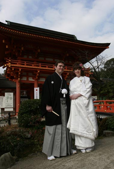 Husband and Wife outside Kamigamo!