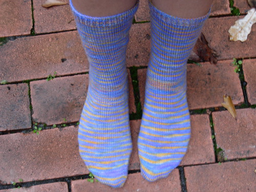 Toe Up Sock with Gusset Heel