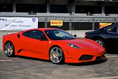 Ferrari 430 Scuderia (Karma Motorsports (Speedin')) Tags: red mexico track day no stripes ferrari carbon custom fiber rims scuderia maserati f430 430 aftermarket stripeless