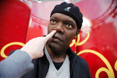 """Check out da big brain on Brett!"" (laurenlemon) Tags: me hollywood myhand samuelljackson nosepick canoneos5dmarkii laurenrandolph laurenlemon"