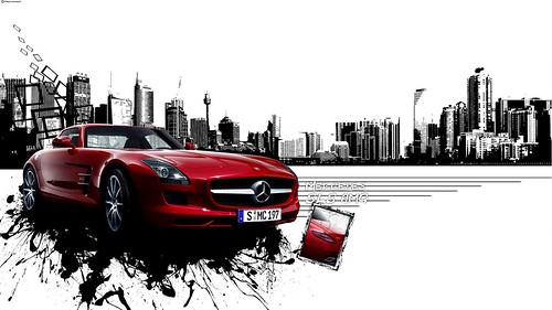 Mercedes SLS AMG ExperiMENTAL Wallpaper [Full HD]