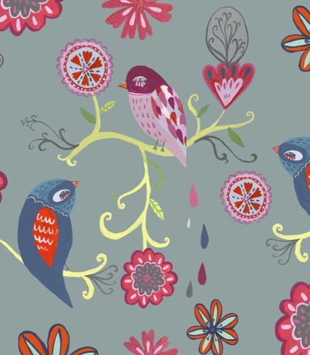 bright bird pattern section 1