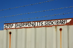 stop shopping its sick! barf! (Luna Park) Tags: nyc ny newyork girl its brooklyn shopping graffiti batcave you go barf stop lunapark gowanus gotham sick ygg