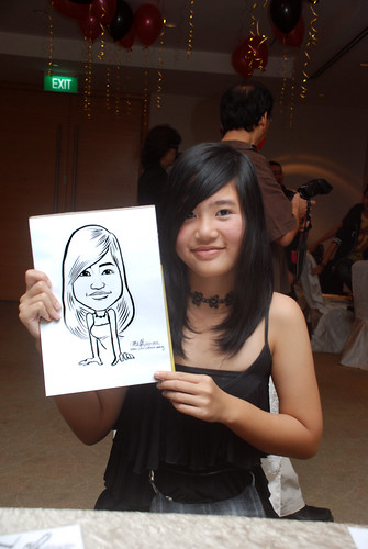 caricature live sketching for birthday party 220110 - 13
