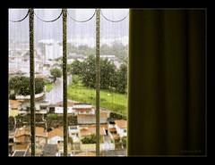 Seeing the rain out there ... (Rebeca Mello) Tags: city cidade urban texture window rain photoshop sony chuva janela urbano legacy lightroom tistheseason alpha200 sonyalpha200 awardtree miasbest rebecamello rebecamcmello daarklands flickrvault magicunicornverybest trolledproud