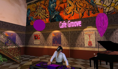cafe groove party in second life