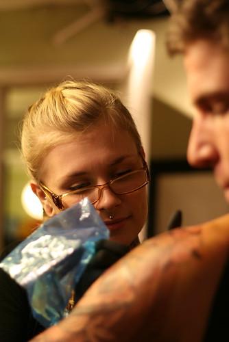 Girl Side Tattoo Script Lettering Design Girl Side Tattoo bright side tattoo