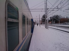 Treno fermo alla Stazione di Zagarolo