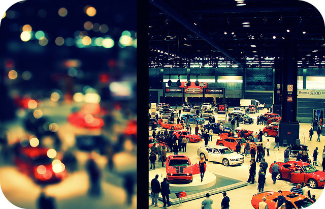 auto show above lake chicago eos drive diptych place display bokeh aerial lakeshoredrive shore 09 dodge nitro viper 2009 challenger chicagoautoshow mccormickplace mcormick eos50d canon50d