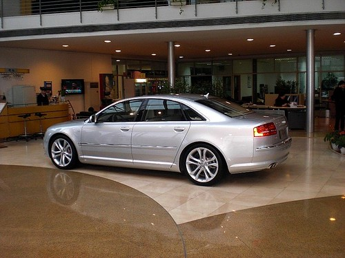 Audi S8 V10. Audi S8 V10 in the dealership
