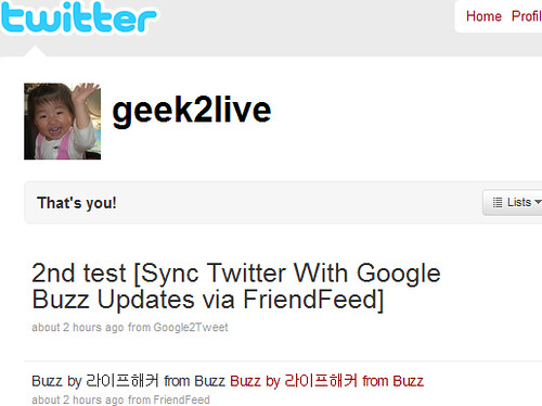 Buzz2Twitter Test Result
