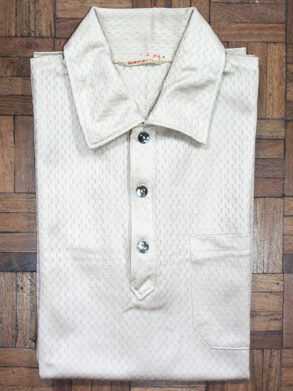 Cream polo shirt