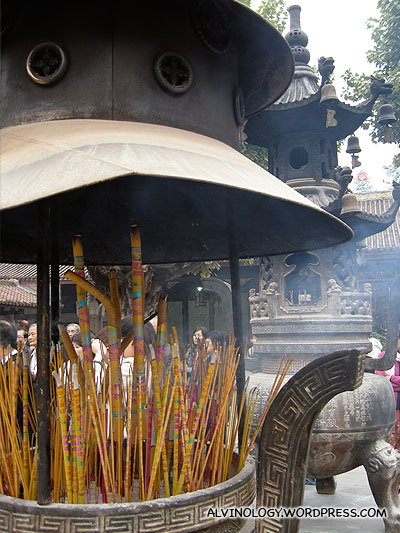 Giant incense urn