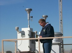 Dwayne Salisbury Servicing PM2.5 Sampler