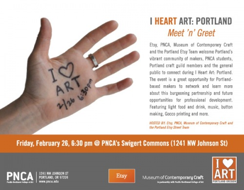 i heart art - tonight in Portland!