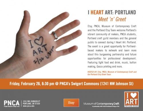 i heart art - tonight in Portland!