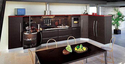 Dining room, kitchen interior design ideas that blend
