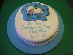 Matthew's Christening Cake (cacamilis) Tags: christeningcake boychristeningcake cannaboeconfectionery wwwcacamiliscom sharonsweeney