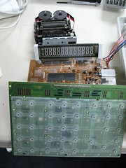 Image of the parts of an adding machine