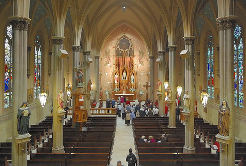 Saint John Nepomuk Roman Catholic Church, in Saint Louis, Missouri, USA - nave